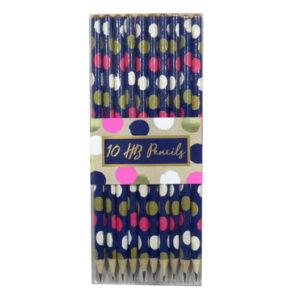 Gem Range, Stylish HB Pencils - Pack of 10