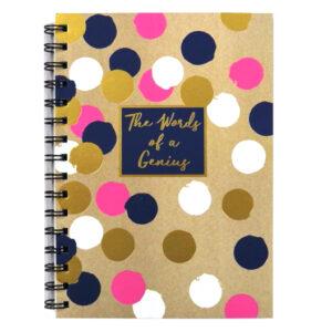 A5 Words of Genius Wirebound Notebook - Gems