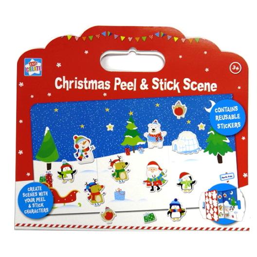 Christmas Carry Peel and Stick Art Scene