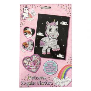 Magical Misty Unicorn - Create your Own Sequin Picture Pack
