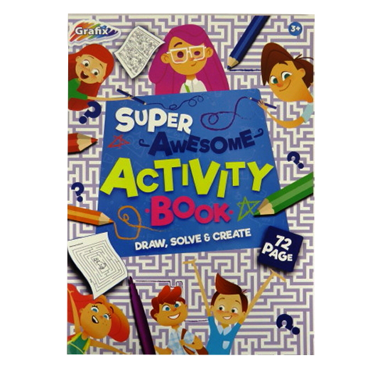 A4 Childrens Super-Awesome Educational Activity Book