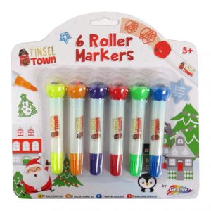 Tinsel Town Christmas Roller Stamper Pens