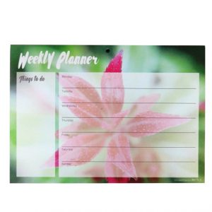 A4 Desktop Weekly Planner & Things to Do Notepad - Floral