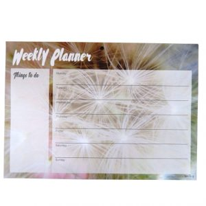 A4 Desktop Weekly Planner & Things to Do Notepad - Meadow Seeds