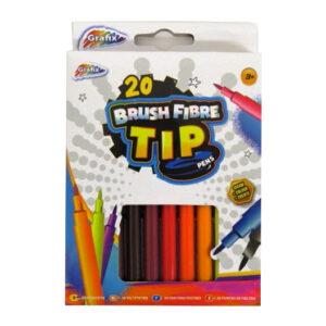 Colouring Pens Brush Fibre Tip