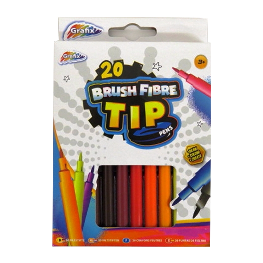 Colouring Pens Brush Fibre Tip