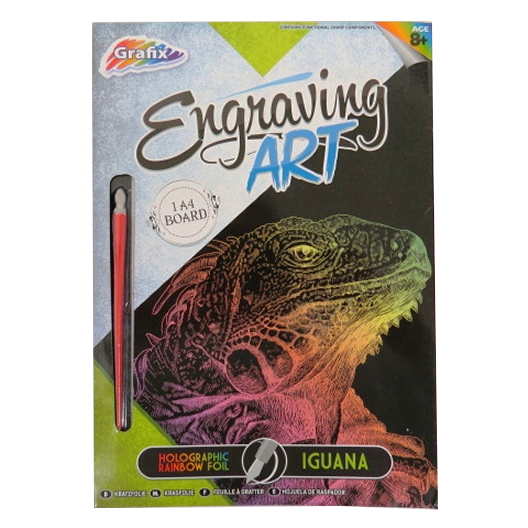 Engraving Animals Art Foil Pack – Iguana