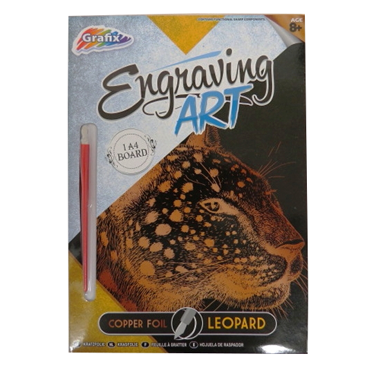 Engraving Animals Art Foil Pack – Leopard