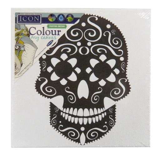 Colour My Canvas Picture Skull