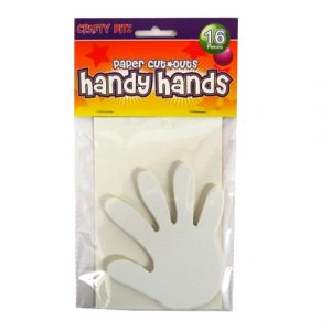 Children's Card Paper Shapes - Handy Hands