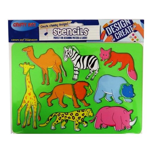 Stencils Wild Animals