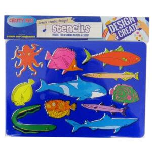 Stencil Pack Sealife Animals