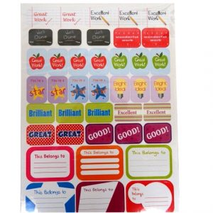 Childrens A4 Reward Sticker Pack