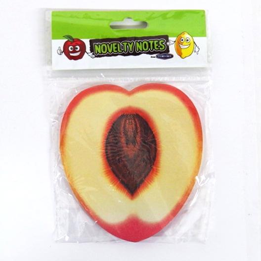 Novelty Fruit Notes Notepad, Peach