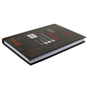 A6 Hard Cover A to Z Index Book Ruled Notebook