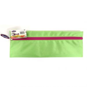 Xtreme Bright Strong Fabric 30cm Pencil Case Green
