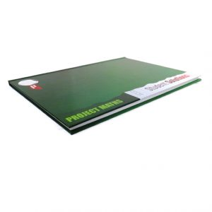 A4 Project Maths 5mm Square Lined Hard Cover Notebook Angle