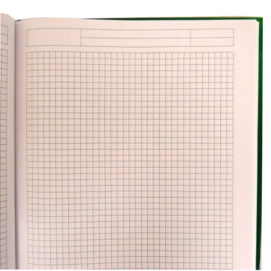 A4 Project Maths 5mm Square Lined Hard Cover Notebook