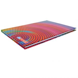 A4 Hard Cover Writing Notebook, Rainbow Dots Angle