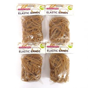 Natural Elastic Rubber Bands, Size 38