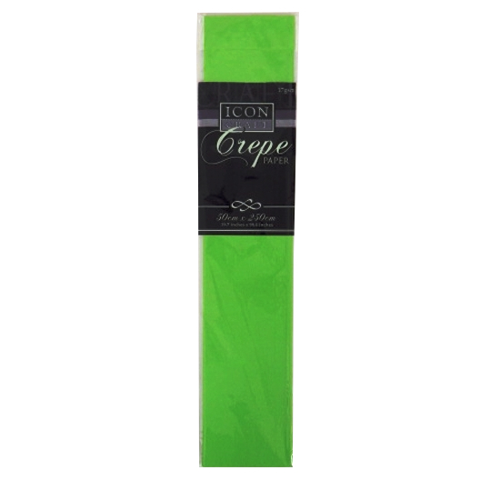 Icon Craft, Large Crepe Paper - Lime Green
