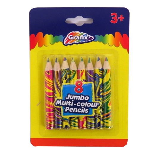Rainbow Tip Colouring Pencils 8 Pack