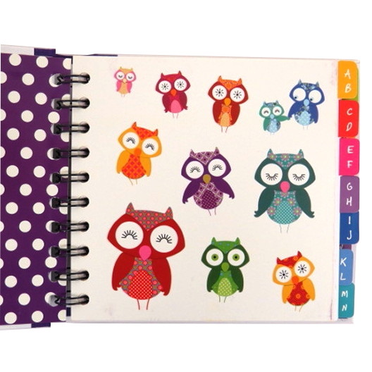 Cute Owls Address Book