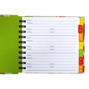 Decorative A-Z Address Book - Woodland