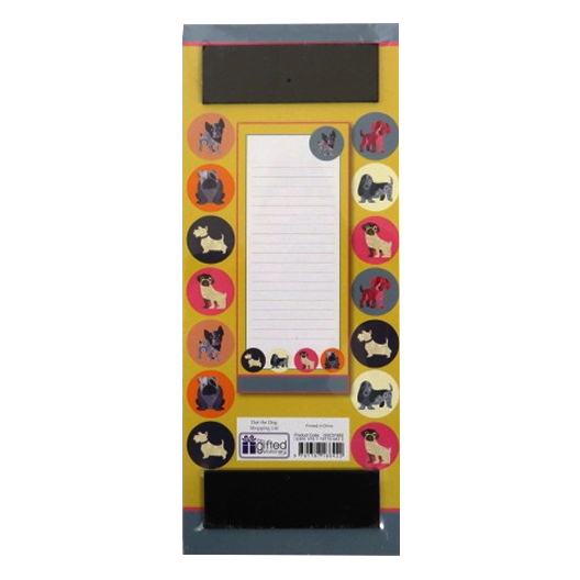 Magnetic Dot the Dog Shopping List Notepad Front 2