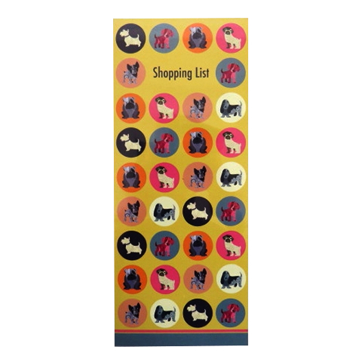 Magnetic Dot the Dog Shopping List Notepad Front