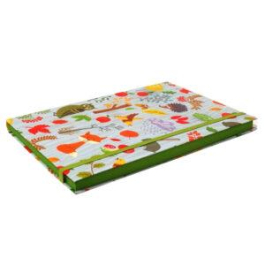 A5+ Decorative Journal Notebook, Elastic Closure - Woodland