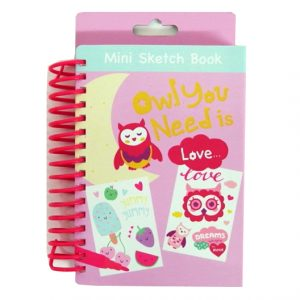 Berry Sweet Owl Mini Sketch Book Creative Pack