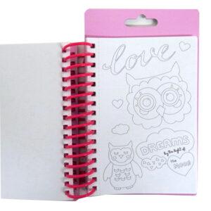 Berry Sweet Owl Mini Sketch Book Creative Pack