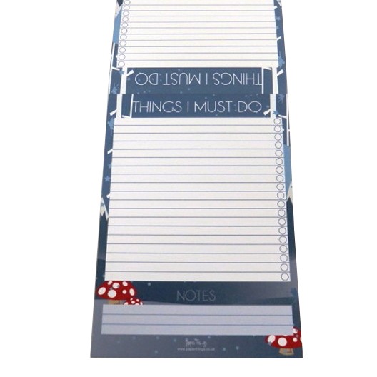 A5 Things I Must Do, Things to Do Ticklist Notepad - Mystical
