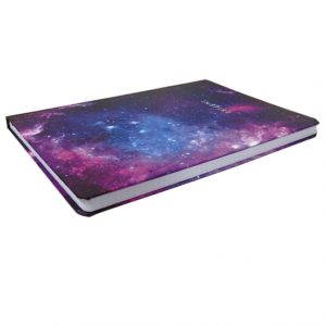 A4 Hard Cover Notebook Metallic Dreams, Inspire - Graph Ruled