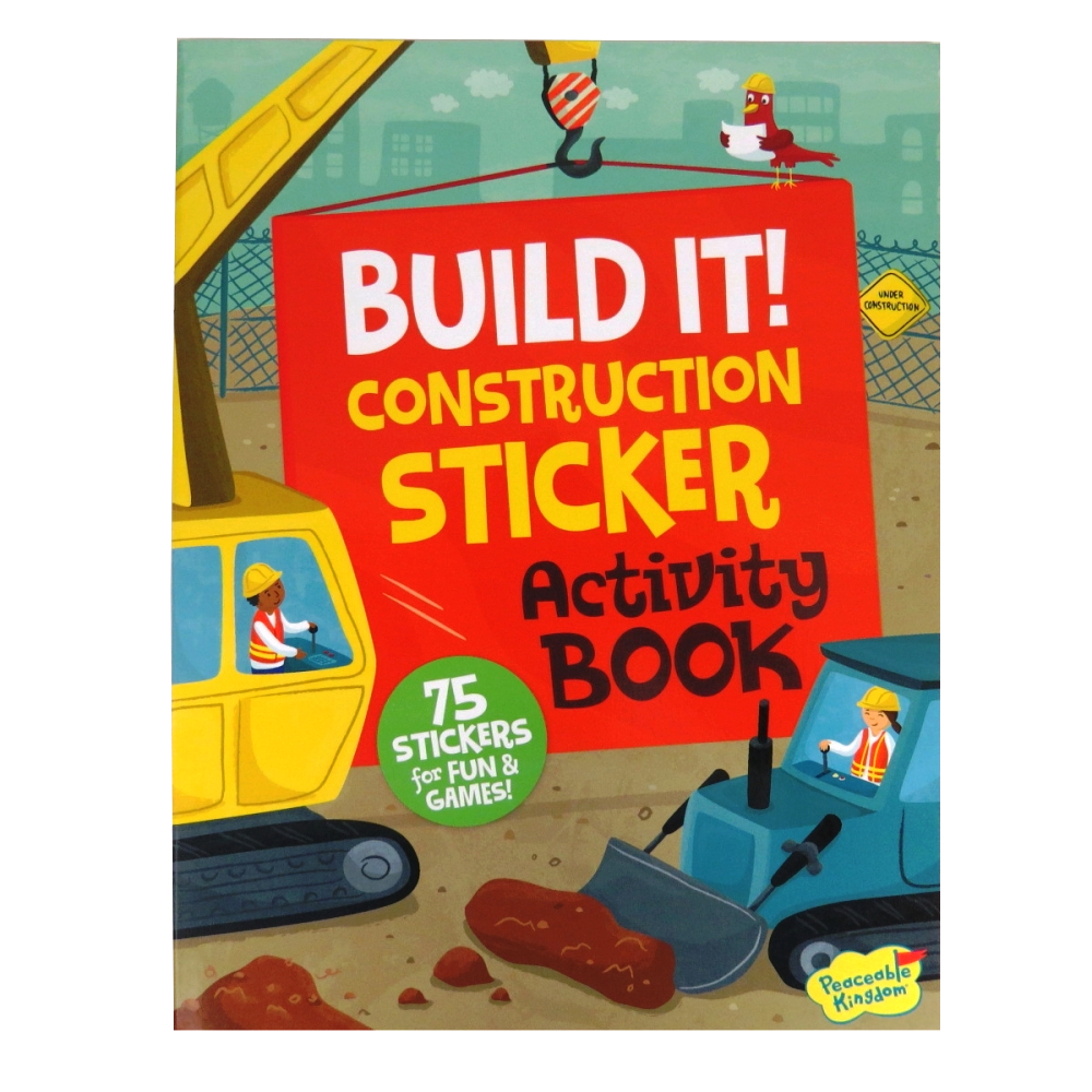 Build It! Construction Sticker and Activity Book
