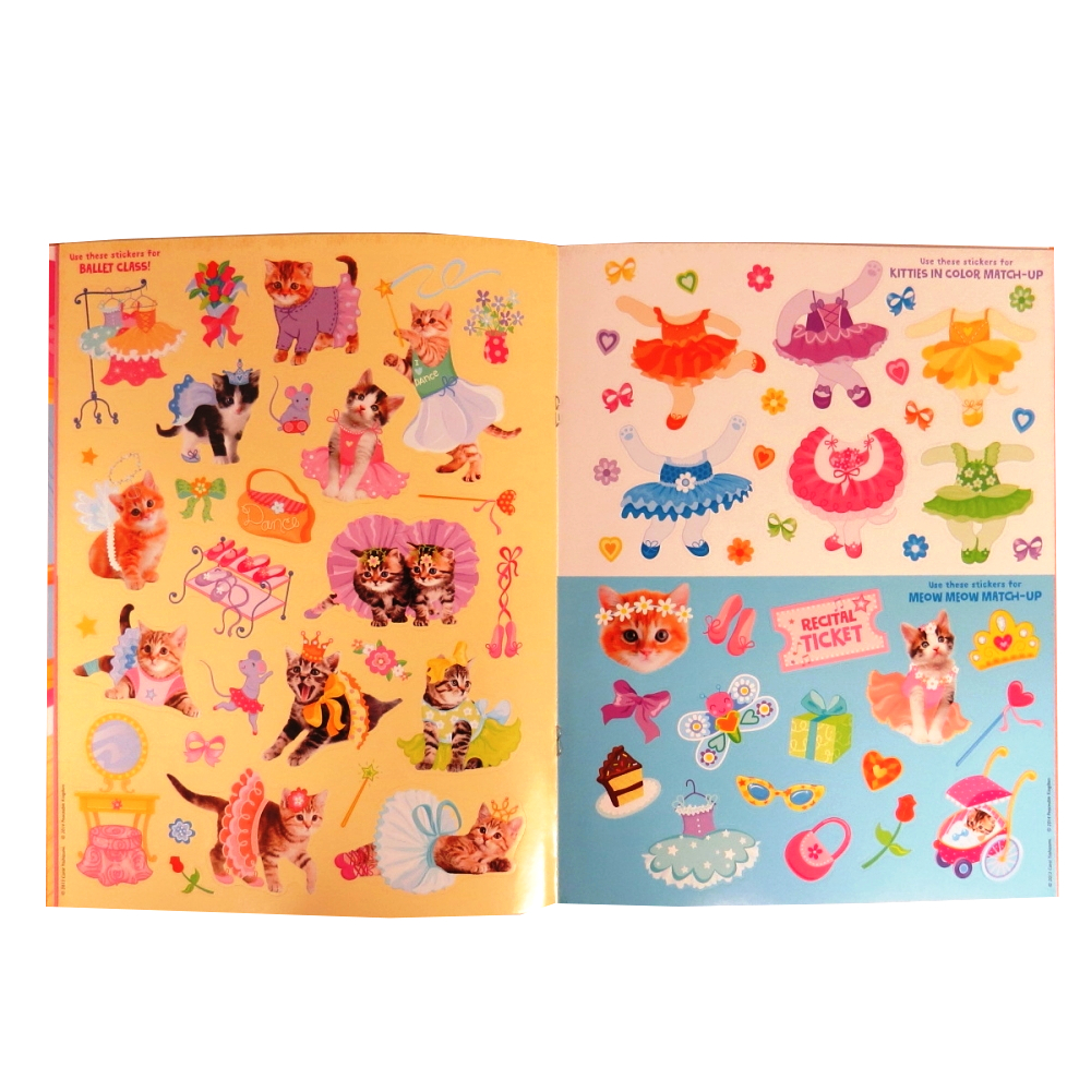 Peaceable Kingdom Kitty Ballet Sticker and Activity Book