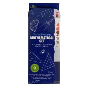 Student Solutions Mathematical Set in a Tin, Blue