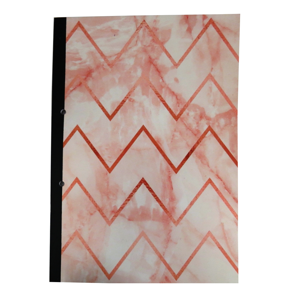 A4 Refill Fashion Writing Notebook - Marble Chevron Design