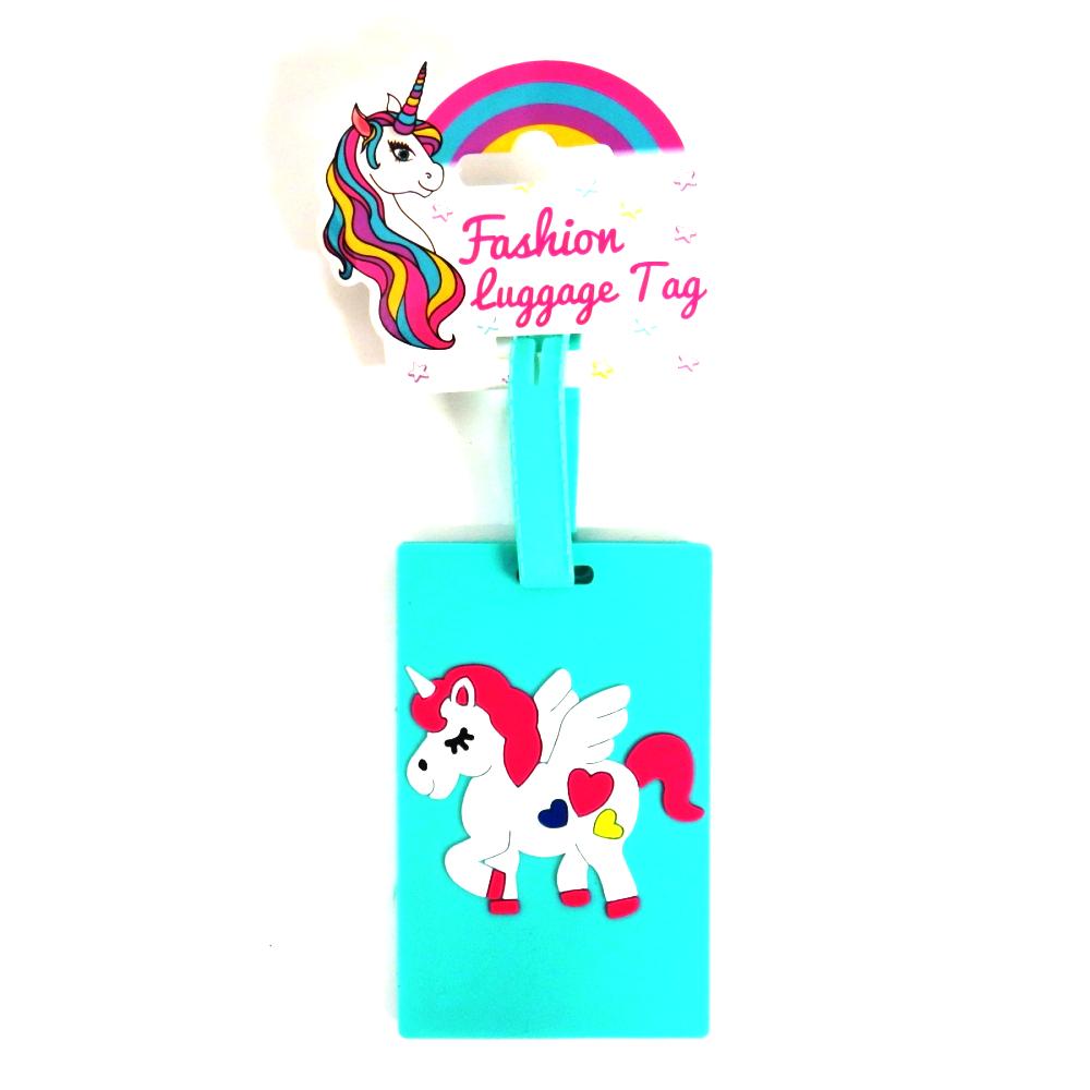 Girls 3D Fashion Luggage and Bag Tags - Unicorn