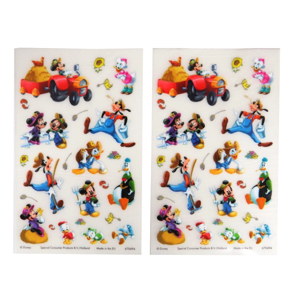Disney Farmyard Mickey - Rub on Transfer Stickers