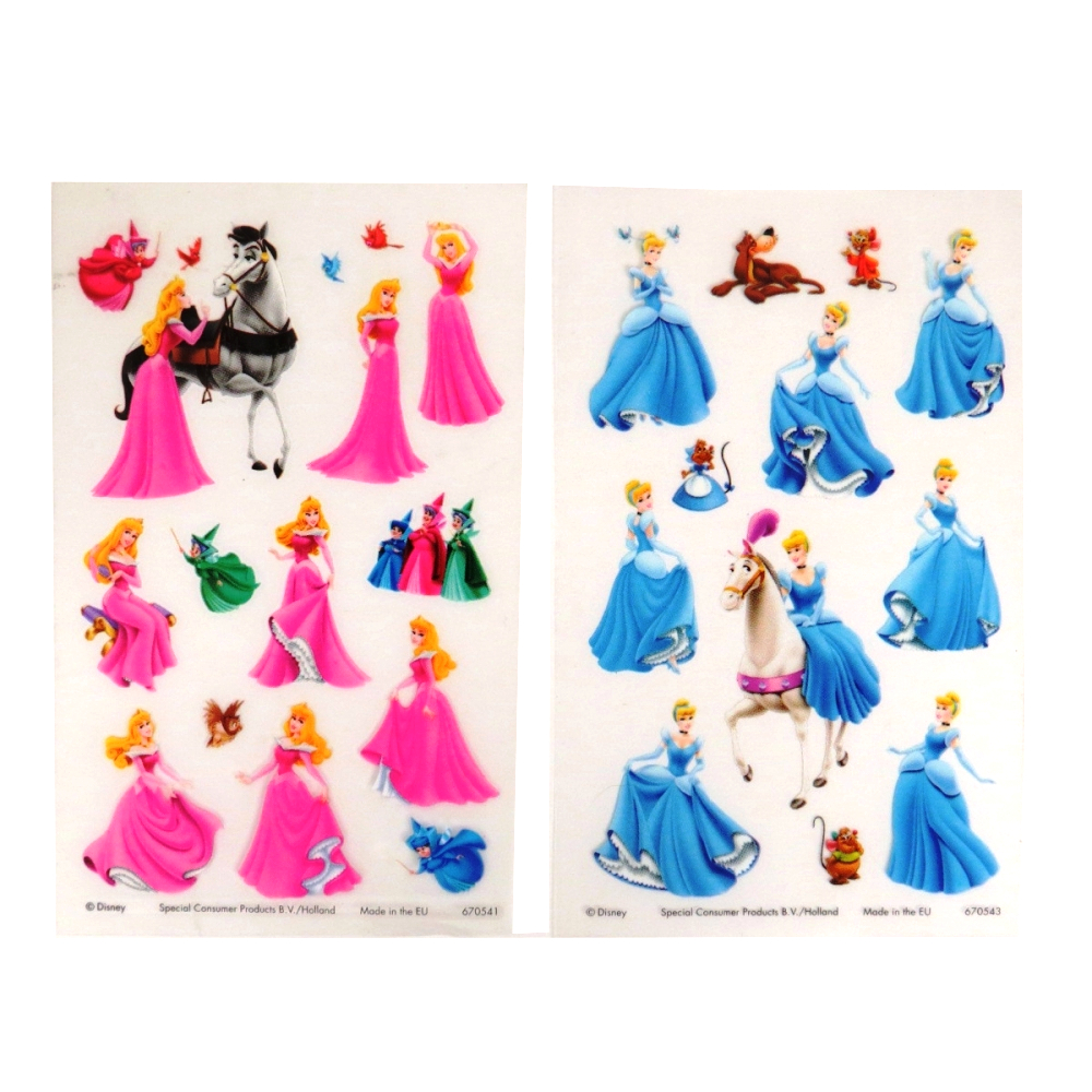Disney Cinderella - Creative Rub on Transfer Stickers