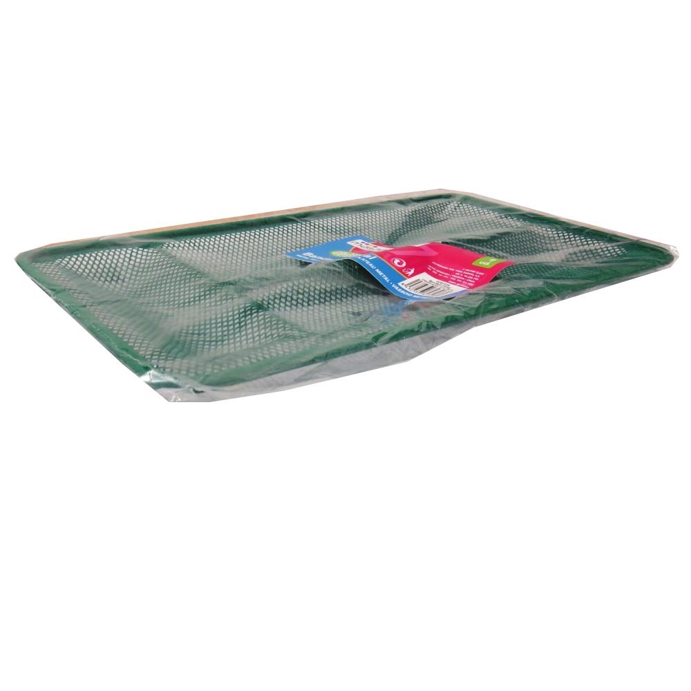 Stationery Organiser, Metal Mesh Divider Tray, Desk or Office Draw, Green