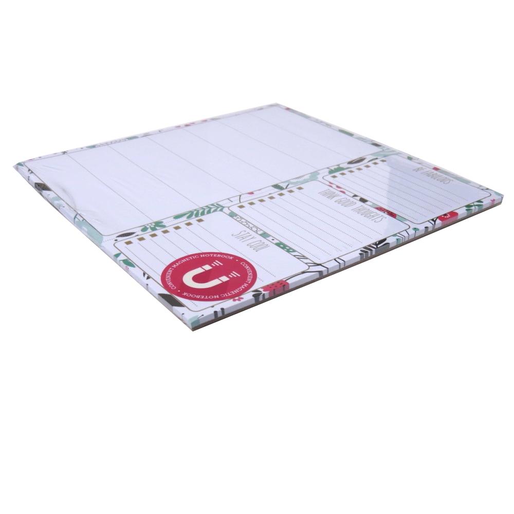 I Love Stationery, Magnetic List Notepad - Floral Design
