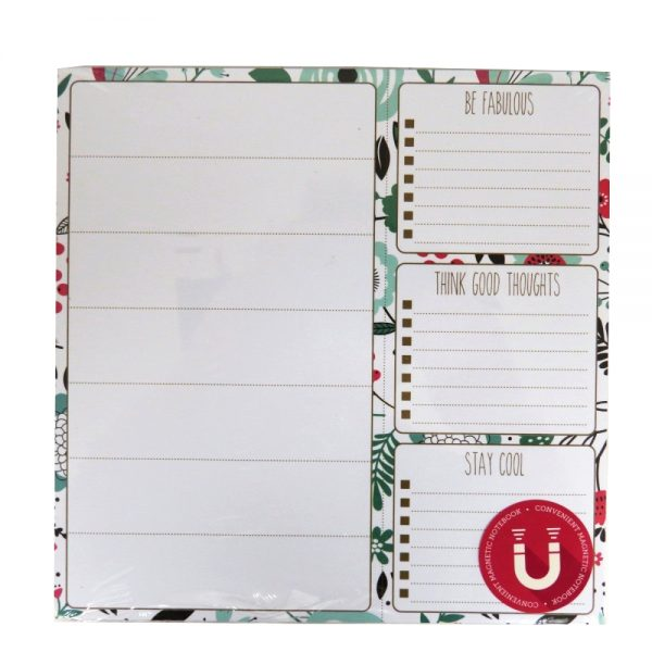 I Love Stationery, Magnetic List Notepad - Floral Design