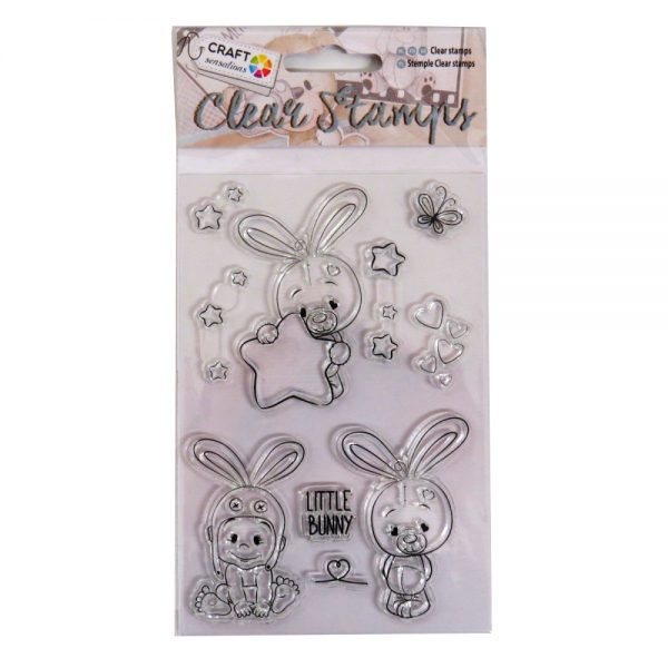 Craft Sensations Clear Decorative Stamps - Little Bunny Theme