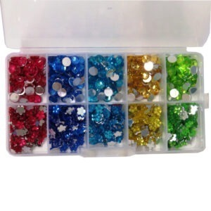 Assorted Gem Stones with Organiser, 5 Colours, 2 Designs