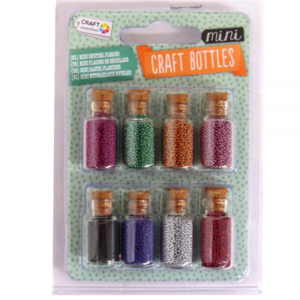 Mini Craft Bottles with Minature Beads
