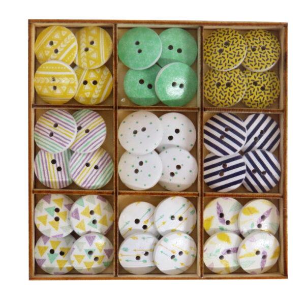 Wooden Decorative Buttons, Modern Designs