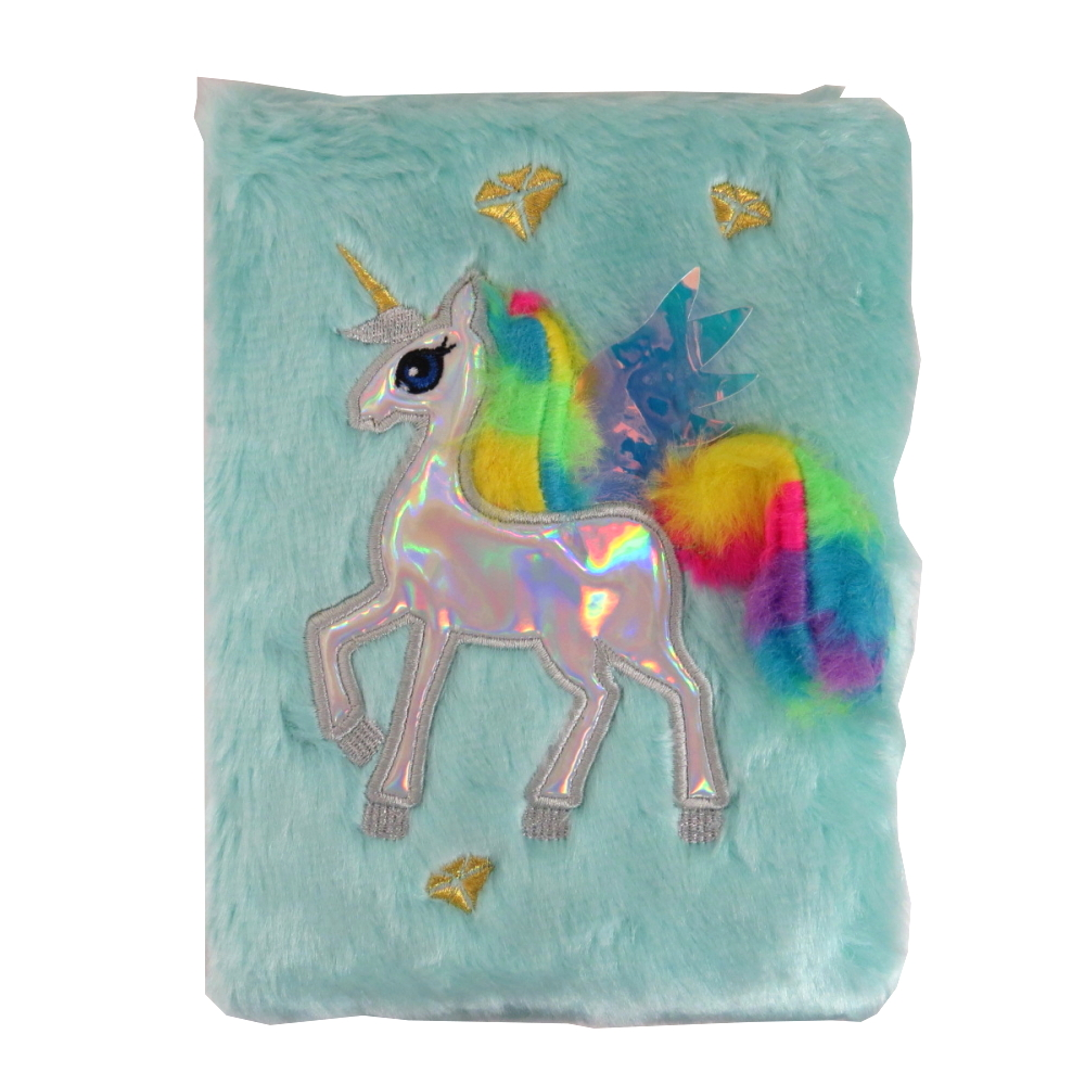 Emotionery Girls Plush Unicorn Soft Feel Furry Diary